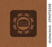 cheeseburger icon inside retro... | Shutterstock .eps vector #1996976348