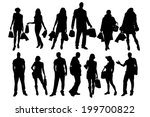 vector silhouette of a... | Shutterstock .eps vector #199700822