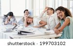 casual business team laughing... | Shutterstock . vector #199703102