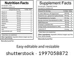 nutrition and supplement fact   ... | Shutterstock .eps vector #1997058872