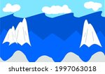 northern sea with drift ice   Shutterstock .eps vector #1997063018