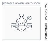 water birth line icon. birthing ... | Shutterstock .eps vector #1997147792