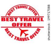 best travel offer grunge stamp... | Shutterstock .eps vector #199717088