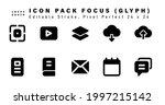 icon set of focus glyph icons....