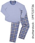blue children's pajamas.... | Shutterstock . vector #199723736