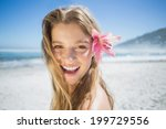 Beautiful Smiling Blonde With...