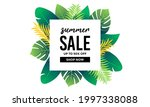 topical summer sale. floral... | Shutterstock .eps vector #1997338088