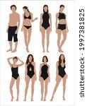Vector Of Women In Swimsuit  ...