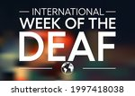 international week of the deaf... | Shutterstock .eps vector #1997418038