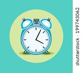 alarm clock flat design   Shutterstock .eps vector #199743062