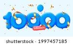 10000 followers thank you 3d...   Shutterstock .eps vector #1997457185
