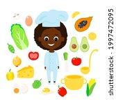 set cook  vegetables  fruits... | Shutterstock .eps vector #1997472095