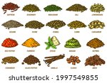 spices and herbs sketch set....   Shutterstock .eps vector #1997549855