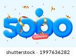 5000 followers thank you 3d...   Shutterstock .eps vector #1997636282