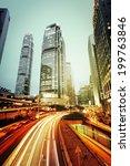 night traffic hong kong | Shutterstock . vector #199763846