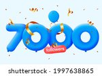 7000 followers thank you 3d...   Shutterstock .eps vector #1997638865