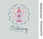 catering logo template vector... | Shutterstock .eps vector #1997640038