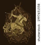 illustration horsesman... | Shutterstock .eps vector #1997651558