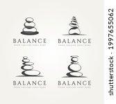 set of balancing stone...   Shutterstock .eps vector #1997655062
