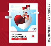 dirgahayu indonesia and merdeka ... | Shutterstock .eps vector #1997708372