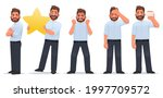 set of character man. a... | Shutterstock .eps vector #1997709572