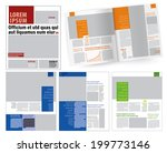 magazine layout template | Shutterstock vector #199773146