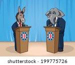 presidential debate | Shutterstock .eps vector #199775726