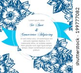 wedding invitation cards with... | Shutterstock .eps vector #199777082