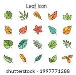 leaf color line icon set   Shutterstock .eps vector #1997771288
