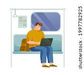 man or freelancer riding the...   Shutterstock .eps vector #1997782925