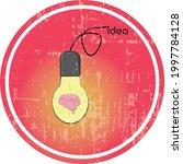 bulb and brain vector...   Shutterstock .eps vector #1997784128
