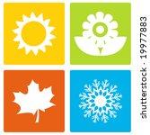 simple seasons   Shutterstock .eps vector #19977883