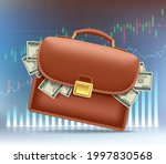 dollar paper money in a leather ... | Shutterstock .eps vector #1997830568