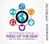 international week of the deaf... | Shutterstock .eps vector #1997831762