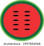 half watermelon. juicy fruit....   Shutterstock .eps vector #1997856968