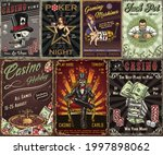 gambling vintage posters with... | Shutterstock .eps vector #1997898062