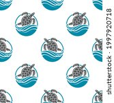 seamless pattern with sea... | Shutterstock .eps vector #1997920718