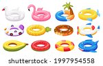 swimming ring. inflatable pool... | Shutterstock .eps vector #1997954558