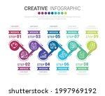 infographic design template... | Shutterstock .eps vector #1997969192