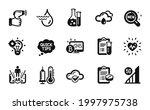 vector set of medical analyzes  ... | Shutterstock .eps vector #1997975738