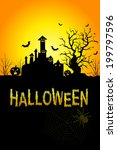 halloween background in vector  ... | Shutterstock .eps vector #199797596
