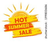hot summer sale banner   text... | Shutterstock . vector #199803686