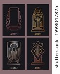 art deco ornamental elements ... | Shutterstock .eps vector #1998047825