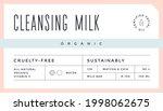 minimal label. typographic... | Shutterstock .eps vector #1998062675