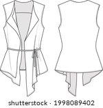 women's asymmetrical slim vest. ...   Shutterstock .eps vector #1998089402