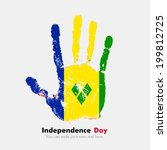 independence day. grungy style. ... | Shutterstock .eps vector #199812725