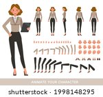 business woman wear brown shirt ...   Shutterstock .eps vector #1998148295