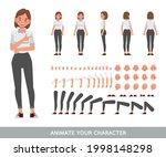 business woman wear white shirt ... | Shutterstock .eps vector #1998148298