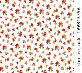 small cute vector flowers...   Shutterstock .eps vector #199816796