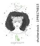 capricorn zodiac sign and...   Shutterstock .eps vector #1998174815